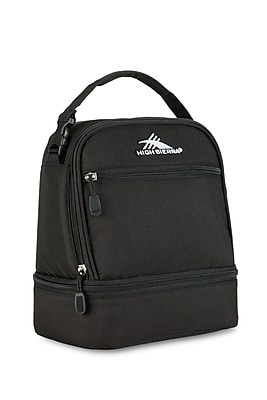 High Sierra Stacked Compartment Lunch Bag, Black (74714-1041)