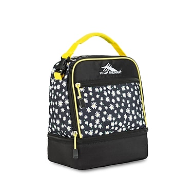 High Sierra Stacked Compartment Lunch Bag, Black Daisy Print (74714-4944)