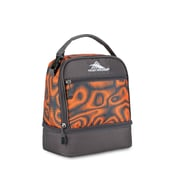 High Sierra Stacked Compartment Lunch Bag, Orange/Grey Mercury Faze Print (74714-4950)