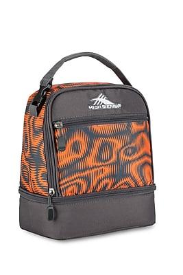 High Sierra Stacked Compartment Lunch Bag, Orange/Grey Mercury Faze Print (74714-4950)