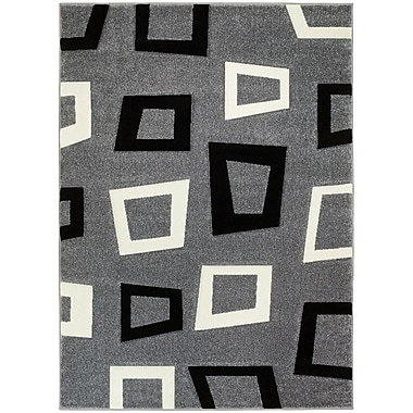 Brady Home Gray Area Rug; 8' x 11'