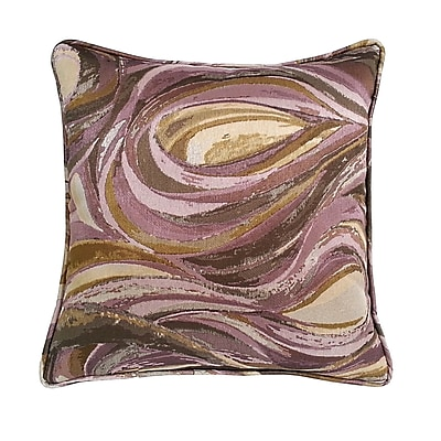 R&MIndustries Marinella Abstract Throw Pillow; Amethyst