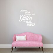 SweetumsWallDecals 3 Piece Some Girls are Born w/ Glitter Girls Wall Decal Set; White
