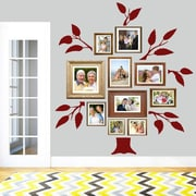 SweetumsWallDecals 7 Piece Family Tree Wall Decal Set; Cranberry