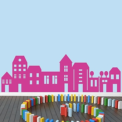 SweetumsWallDecals Little City Wall Decal Set; Hot Pink