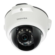 toshiba IK-WR05A Wired Outdoor IP Mini-Dome Network Camera, 1920 x 1080, White