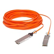 Extreme® 10318 328.08' QSFP+ Fiber Optic Network Cable, Orange