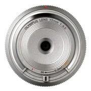 Olympus® V325010SW000 f/8.0 Body Cap Wide Angle Lens for E-P5 Micro 4/3 Cameras, Silver