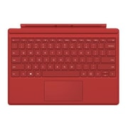 Microsoft® R9Q-00005 Type Cover Keyboard/Cover Case for Surface Pro 3/Surface Pro 4 Tablet, Red