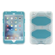 Griffin® GB41359 Survivor All-Terrain Polycarbonate/Silicone Protective Case for Apple iPad Mini 4, Clear/Blue