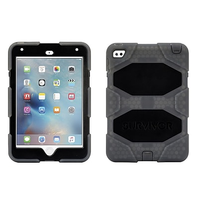 Griffin GB41360 Survivor All-Terrain Polycarbonate/Silicone Protective Case for Apple iPad Mini 4, Smoke/Black 2259596