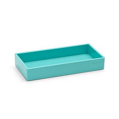 Poppin Small Accessory Tray, Aqua