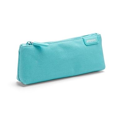 Poppin – Étui à crayons en tissu, turquoise