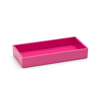 Poppin Small Accessory Tray, Pink