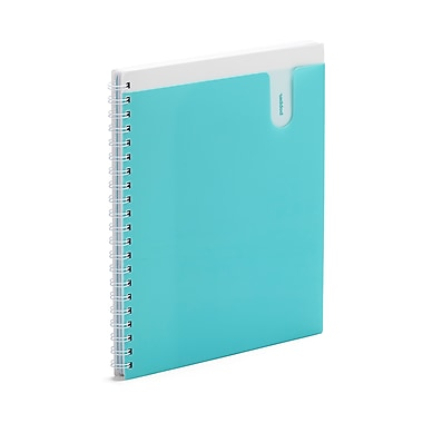 Poppin 1-Subject Pocket Spiral Notebook, 11 x 8-1/2