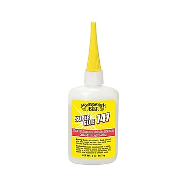Moneysworth & Best Super Glue 747, 2oz, 12/Pack, (50813-12)