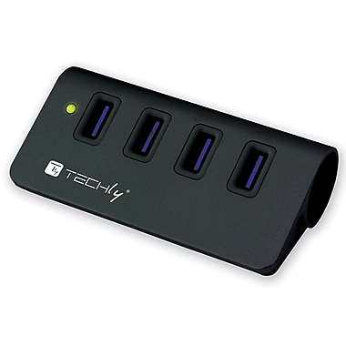Techly USB 3.0 Super Speed Hub, 4 Port, (IUSB3-TLY430-BK)