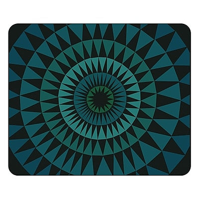 OTM Prints Black Mouse Pad, Sun Print Blue Ivy