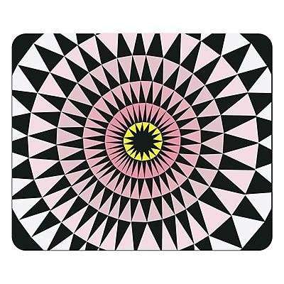 OTM Artist Prints Black Mouse Pad, Sun Print Rose