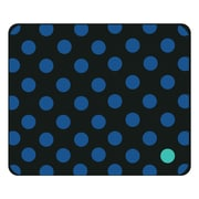 OTM Prints Black Mouse Pad, Dotty Gone Blue