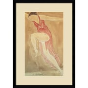 "Amanti Art Abraham Walkowitz 'Woman in Red Dancing, 1919' Framed Art Print 15"" x 21"" Inch Overall (DSW574577)"