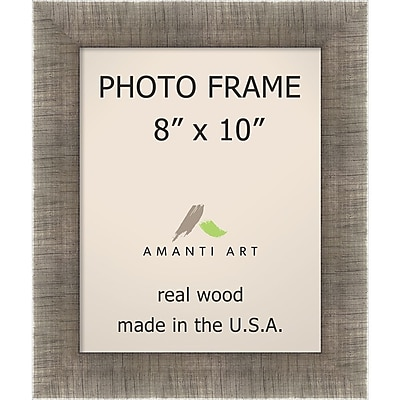 Amanti Art Silver Leaf Wood Photo Frame 8