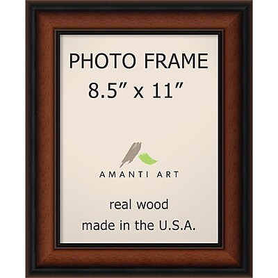 Amanti Art Bella Noce Walnut Wood Photo Frame 8.5