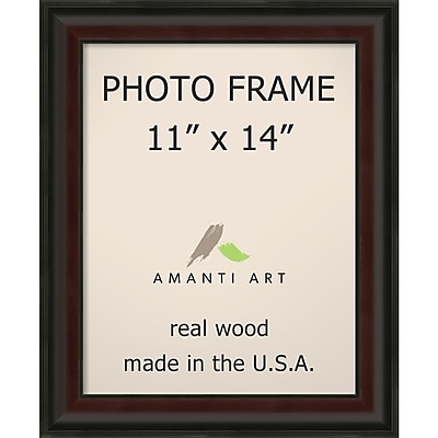 Amanti Art Mahogany Fade Wood Photo Frame 11