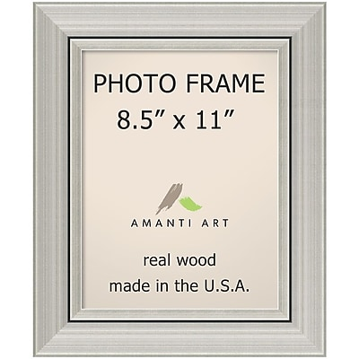 Amanti Art Romano Silver Wood Photo Frame 8.5