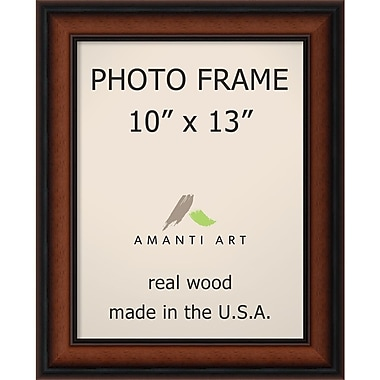 Amanti Art Bella Noce Walnut Wood Photo Frame 10