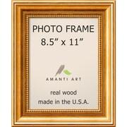 "Amanti Art  Townhouse Gold Wood Photo Frame 8.5"" x 11"" (DSW1385299)"