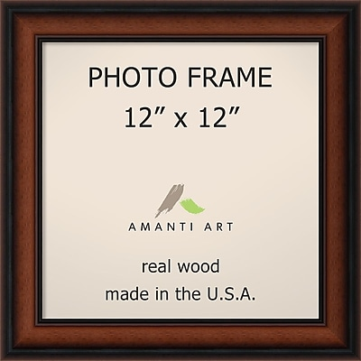Amanti Art Bella Noce Walnut Wood Photo Frame 12