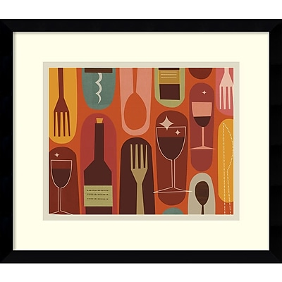 Amanti Art Jenn Ski 'Wine & Dine' Framed Art Print 15