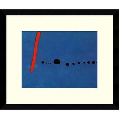 Amanti Art ? Imprimé encadré Bleu II par Joan Miro, 14 x 12 po (DSW575928)