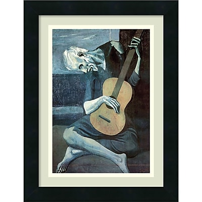 """""""""""Amanti Art Pablo Picasso 'The Old Guitarist, 1903' Framed Art Print 13"""""""""""""""" x 17"""""""""""""""" (DSW2973463)"""""""""""" 2193209"""