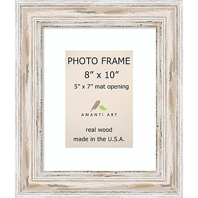 Amanti Art Alexandria Whitewash Wood Photo Frame 8