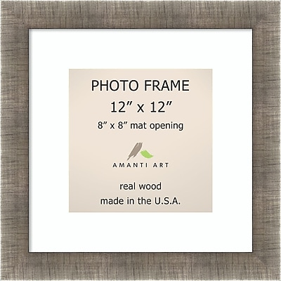 Amanti Art Silver Leaf Wood Photo Frame 12