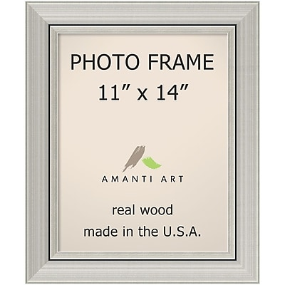 Amanti Art Romano Silver Wood Photo Frame 11