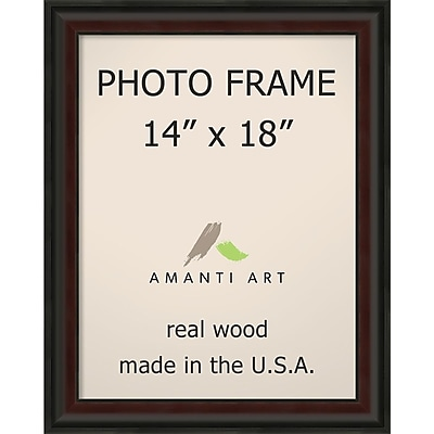 Amanti Art Mahogany Fade Wood Photo Frame 14
