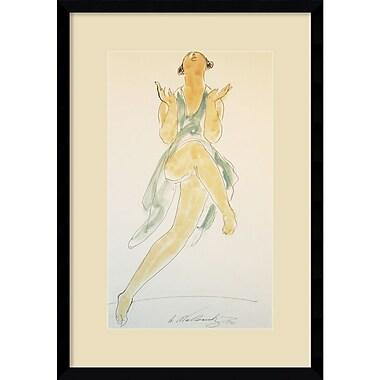 Amanti Art ? Imprimé encadré Isadora Duncan, in Green, Dancing par Abraham Walkowitz, 1920, 15 x 21 po (DSW1418355)