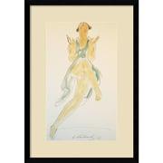 "Amanti Art Abraham Walkowitz 'Isadora Duncan, in Green, Dancing, 1920' Framed Art Print 15"" x 21"" (DSW1418355)"