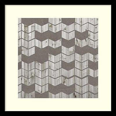 Amanti Art Jennifer Goldberger 'Chevron Cut Out I' Framed Art Print 17