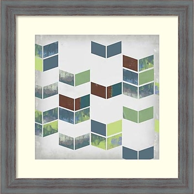 Amanti Art Jennifer Goldberger 'Broken Chevron II' Framed Art Print 18