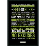 "Amanti Art Gym - Motivational' Framed Art Print with Gel Coated Finish 25"" x 37"" (DSW1246003)"