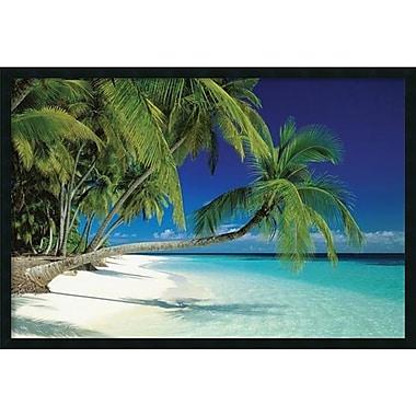 Amanti Art ? Imprimé encadré avec revêtement en gel, Maldives Beach, 37 x 25 po (DSW1378156)