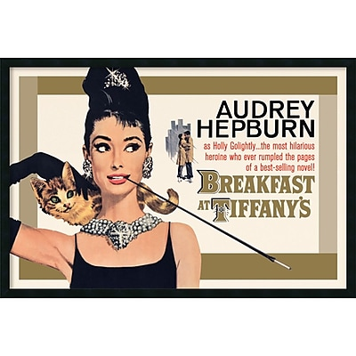 Amanti Art Breakfast at Tiffany's - Gold' Framed Art Print with Gel Coated Finish 37