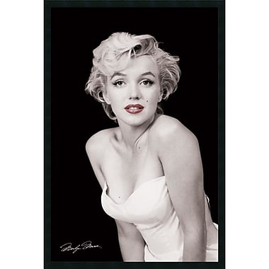 Amanti Art Milton H. Greene Marilyn Monroe, Red Lips Framed Art Print with Gel Coated Finish, 25
