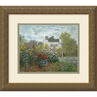 Amanti Art Claude Monet 'The Artist's Garden at Argenteuil, 1873' Framed Art Print 16