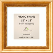 """Amanti Art  Townhouse Gold Wood Photo Frame 12"""" x 12"""", Matted to 8"""" x 8"""" 15 x 15-inch (DSW1385316)"""