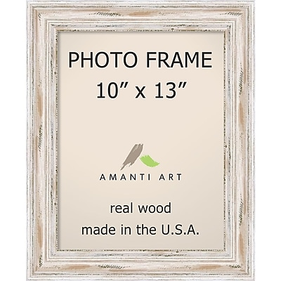 Amanti Art Alexandria Whitewash Wood Photo Frame 10 X 13